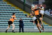 21 August 2020; Kieran Donaghy of Austin Stacks in action against Michael Moloney and Cillian O'Regan of Dr Crokes during the Kerry County Senior Football Championship Round 1 match between Dr Crokes and Austin Stacks at Austin Stack Park in Tralee, Kerry. Photo by Brendan Moran/Sportsfile