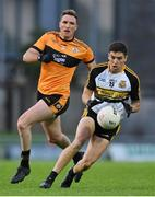 21 August 2020; Tony Brosnan of Dr Crokes in action against Brendan O'Sullivan of Austin Stacks during the Kerry County Senior Football Championship Round 1 match between Dr Crokes and Austin Stacks at Austin Stack Park in Tralee, Kerry. Photo by Brendan Moran/Sportsfile