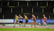 22 August 2020; Runners pass the empty terraces whilst competing in the Men's 5000m heats during Day One of the Irish Life Health National Senior and U23 Athletics Championships at Morton Stadium in Santry, Dublin. Photo by Sam Barnes/Sportsfile