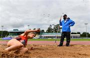 22 August 2020; Official Shay Murphy watches on during the Women's Long Jump event on Day One of the Irish Life Health National Senior and U23 Athletics Championships at Morton Stadium in Santry, Dublin. Photo by Sam Barnes/Sportsfile
