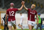 22 August 2020; Oisin Gough, right, and Aidan Nolan of Dicksboro celebrate following the Kilkenny County Senior Hurling League Final match between O'Loughlin Gaels and Dicksboro at UPMC Nowlan Park in Kilkenny. Photo by Harry Murphy/Sportsfile