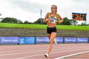 22 August 2020; Michelle Finn of Leevale AC, Cork, on her way to winning the Women's 5000m during Day One of the Irish Life Health National Senior and U23 Athletics Championships at Morton Stadium in Santry, Dublin. Photo by Sam Barnes/Sportsfile