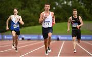 22 August 2020; Christopher O'Donnell of North Sligo AC, centre, competing in the Men's 400m heats during Day One of the Irish Life Health National Senior and U23 Athletics Championships at Morton Stadium in Santry, Dublin. Photo by Sam Barnes/Sportsfile