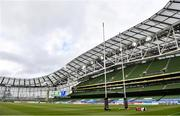 22 August 2020; A general view of the stadium ahead of the Guinness PRO14 Round 14 match between Leinster and Munster at the Aviva Stadium in Dublin. Photo by Ramsey Cardy/Sportsfile