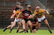 22 August 2020; Shane O'Sullivan of Ballygunner in action against Ray Barry and Maurice Shanahan of Lismore during the Waterford County Senior Hurling Championship Semi-Final match between Ballygunner and Lismore at Fraher Field in Dungarvan, Waterford. Photo by Matt Browne/Sportsfile