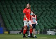 22 August 2020; RG Snyman of Munster leaves the field with an injury during the Guinness PRO14 Round 14 match between Leinster and Munster at the Aviva Stadium in Dublin. Photo by Ramsey Cardy/Sportsfile