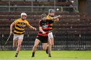 22 August 2020; Kevin Mahony of Ballygunner in action against Connor Howard, left, and Carthach Daly of Lismore during the Waterford County Senior Hurling Championship Semi-Final match between Ballygunner and Lismore at Fraher Field in Dungarvan, Waterford. Photo by Matt Browne/Sportsfile