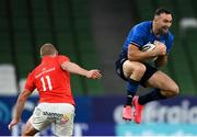 22 August 2020; Dave Kearney of Leinster in action against Keith Earls of Munster during the Guinness PRO14 Round 14 match between Leinster and Munster at the Aviva Stadium in Dublin. Photo by Stephen McCarthy/Sportsfile