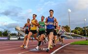 22 August 2020; Cian McPhillips of Longford AC leads the field whilst competing in the Men's 1500m heats during Day One of the Irish Life Health National Senior and U23 Athletics Championships at Morton Stadium in Santry, Dublin. Photo by Sam Barnes/Sportsfile