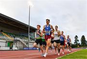 22 August 2020; Andrew Coscoran of Star of the Sea AC, Meath, 663, leads the field whilst competing in the Men's 1500m heats during Day One of the Irish Life Health National Senior and U23 Athletics Championships at Morton Stadium in Santry, Dublin. Photo by Sam Barnes/Sportsfile
