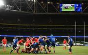 22 August 2020; A general view of the action during the Guinness PRO14 Round 14 match between Leinster and Munster at the Aviva Stadium in Dublin. Photo by Stephen McCarthy/Sportsfile