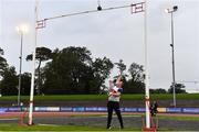 22 August 2020; Sean Breathnach of Galway City Harriers AC, Galway, fails a National Record attempt at 4.95m whilst competing in the Men's Weight for Height during Day One of the Irish Life Health National Senior and U23 Athletics Championships at Morton Stadium in Santry, Dublin. Photo by Sam Barnes/Sportsfile