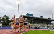 22 August 2020; Amy O'Donoghue of Emerald AC, Limerick, right, on her way to winning her Women's 1500m heat, ahead of Fiona Kehoe of Kilmore AC, Wexford, left, during Day One of the Irish Life Health National Senior and U23 Athletics Championships at Morton Stadium in Santry, Dublin. Photo by Sam Barnes/Sportsfile