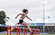 22 August 2020; Nessa Millet of St. Abbans AC, Carlow, competing in the Women's 400m Hurdles heats during Day One of the Irish Life Health National Senior and U23 Athletics Championships at Morton Stadium in Santry, Dublin. Photo by Sam Barnes/Sportsfile