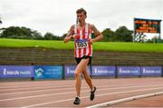 22 August 2020; Seamus Anderson of Trim AC, Meath, competing in the Junior Men's 5000m during Day One of the Irish Life Health National Senior and U23 Athletics Championships at Morton Stadium in Santry, Dublin. Photo by Sam Barnes/Sportsfile