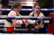 22 August 2020; Katie Taylor, right, in action against Delfine Persoon during their Undisputed Lightweight Titles fight at Brentwood in Essex, England. Photo by Mark Robinson / Matchroom Boxing via Sportsfile
