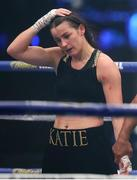 22 August 2020; Katie Taylor after her victory over Delfine Persoon during their Undisputed Lightweight Titles fight at Brentwood in Essex, England. Photo by Mark Robinson / Matchroom Boxing via Sportsfile
