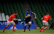 22 August 2020; Scott Fardy of Leinster during the Guinness PRO14 Round 14 match between Leinster and Munster at the Aviva Stadium in Dublin. Photo by Ramsey Cardy/Sportsfile