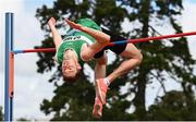 23 August 2020; David Cussen of Old Abbey AC, Cork, on his way to winning the Men's High Jump with a personal best of 2.17m during Day Two of the Irish Life Health National Senior and U23 Athletics Championships at Morton Stadium in Santry, Dublin. Photo by Sam Barnes/Sportsfile