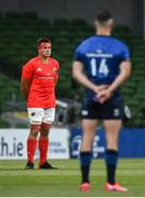 22 August 2020; CJ Stander of Munster observes a moments silence for the black lives matter movement prior to the Guinness PRO14 Round 14 match between Leinster and Munster at the Aviva Stadium in Dublin. Photo by David Fitzgerald/Sportsfile