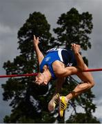 23 August 2020; Kourosh Foroughi of Star of the Sea AC, Meath, on his way to finishing second in the Men's High Jump during Day Two of the Irish Life Health National Senior and U23 Athletics Championships at Morton Stadium in Santry, Dublin. Photo by Sam Barnes/Sportsfile