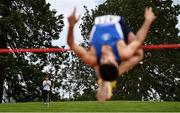23 August 2020; Shane Aston of Trim AC, Meath, watches on as Kourosh Foroughi of Star of the Sea AC, Meath, competes in the Men's High Jump during Day Two of the Irish Life Health National Senior and U23 Athletics Championships at Morton Stadium in Santry, Dublin. Photo by Sam Barnes/Sportsfile