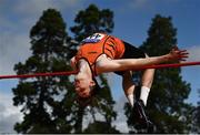 23 August 2020; Joseph McEvoy of Nenagh Olympic AC, Tipperary, competing in the Men's High Jump during Day Two of the Irish Life Health National Senior and U23 Athletics Championships at Morton Stadium in Santry, Dublin. Photo by Sam Barnes/Sportsfile