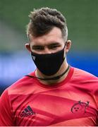 22 August 2020; Peter O'Mahony of Munster ahead of the Guinness PRO14 Round 14 match between Leinster and Munster at the Aviva Stadium in Dublin. Photo by Ramsey Cardy/Sportsfile