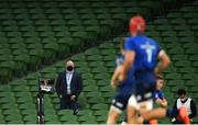 22 August 2020; Former Leinster player and Premier Sports analyst Bernard Jackman during the Guinness PRO14 Round 14 match between Leinster and Munster at the Aviva Stadium in Dublin. Photo by Ramsey Cardy/Sportsfile