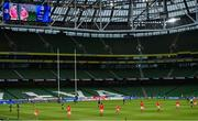 22 August 2020; A general view during the Guinness PRO14 Round 14 match between Leinster and Munster at the Aviva Stadium in Dublin. Photo by Ramsey Cardy/Sportsfile