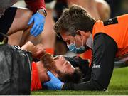 22 August 2020; Jean Kleyn of Munster is treated for an injury during the Guinness PRO14 Round 14 match between Leinster and Munster at the Aviva Stadium in Dublin. Photo by Ramsey Cardy/Sportsfile