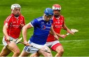 23 August 2020; Austin Gleeson of Mount Sion in action against Callum O'Neill, left, and John Witty of Passage during the Waterford County Senior Hurling Championship Semi-Final match between Mount Sion and Passage at Walsh Park in Waterford. Photo by Eóin Noonan/Sportsfile