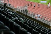 23 August 2020; A general view of empty seats during the Men's 100m heats on Day Two of the Irish Life Health National Senior and U23 Athletics Championships at Morton Stadium in Santry, Dublin. Photo by Sam Barnes/Sportsfile