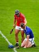 23 August 2020; Austin Gleeson of Mount Sion is consoled by Noel Connors of Passage during the Waterford County Senior Hurling Championship Semi-Final match between Mount Sion and Passage at Walsh Park in Waterford. Photo by Eóin Noonan/Sportsfile