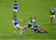 23 August 2020; Tommy Walsh of Kerins O'Rahillys shoots for a score despite the blockdown attempt by Donal Lyne of Killarney Legion during the Kerry County Senior Football Championship Round 1 match between Killarney Legion at Kerins O'Rahilly's at Fitzgerald Stadium in Killarney, Kerry. Photo by Brendan Moran/Sportsfile