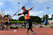23 August 2020; Sean Carolan of Nenagh Olympic AC, Tipperary, competing in the Men's Javelin during Day Two of the Irish Life Health National Senior and U23 Athletics Championships at Morton Stadium in Santry, Dublin. Photo by Sam Barnes/Sportsfile