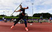 23 August 2020; Stephen Rice of Clonliffe Harriers AC, Dublin, on his way to winning the Men's Javelin during Day Two of the Irish Life Health National Senior and U23 Athletics Championships at Morton Stadium in Santry, Dublin. Photo by Sam Barnes/Sportsfile