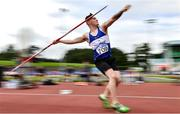23 August 2020; Dylan Kearns of Finn Valley AC, Donegal, competing in the Men's Javelin during Day Two of the Irish Life Health National Senior and U23 Athletics Championships at Morton Stadium in Santry, Dublin. Photo by Sam Barnes/Sportsfile