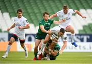 23 August 2020; James Hume of Ulster is tackled by Jack Carty, left, and Eoghan Masterson of Connacht during the Guinness PRO14 Round 14 match between Connacht and Ulster at Aviva Stadium in Dublin. Photo by Stephen McCarthy/Sportsfile
