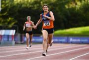 23 August 2020; Grainne Moynihan of West Muskerry AC, Cork, on her way to finishing second in the Women's 400m during Day Two of the Irish Life Health National Senior and U23 Athletics Championships at Morton Stadium in Santry, Dublin. Photo by Sam Barnes/Sportsfile