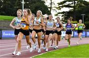 23 August 2020; Michelle Finn of Leevale AC, Cork, leads the field whilst competing in the Women's 1500m during Day Two of the Irish Life Health National Senior and U23 Athletics Championships at Morton Stadium in Santry, Dublin. Photo by Sam Barnes/Sportsfile