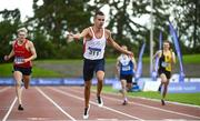 23 August 2020; Christopher O'Donnell of North Sligo AC, dips for the line to win the Men's 400m  during Day Two of the Irish Life Health National Senior and U23 Athletics Championships at Morton Stadium in Santry, Dublin. Photo by Sam Barnes/Sportsfile