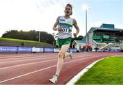 23 August 2020; Sean Tobin of Clonmel AC, Tipperary, on his way to finishing second in the Men's 1500m during Day Two of the Irish Life Health National Senior and U23 Athletics Championships at Morton Stadium in Santry, Dublin. Photo by Sam Barnes/Sportsfile