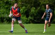 24 August 2020; James Ryan, left, and Rory O'Loughlin during Leinster Rugby squad training at UCD in Dublin. Photo by Ramsey Cardy/Sportsfile