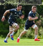 24 August 2020; Dan Leavy, right, and James Ryan during Leinster Rugby squad training at UCD in Dublin. Photo by Ramsey Cardy/Sportsfile