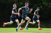 24 August 2020; James Ryan and Dan Leavy, left, during Leinster Rugby squad training at UCD in Dublin. Photo by Ramsey Cardy/Sportsfile