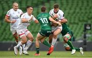 23 August 2020; Stuart McCloskey of Ulster in action against Jack Carty, left, and Jarrad Butler of Connacht during the Guinness PRO14 Round 14 match between Connacht and Ulster at Aviva Stadium in Dublin. Photo by Stephen McCarthy/Sportsfile