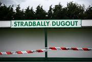24 August 2020; A view of a cordoned off dugout prior to the Laois County Senior Football Championship Round 1 match between Ballylinan and Portlaoise GAA at Stradbally GAA in Stradbaly, Laois. Photo by David Fitzgerald/Sportsfile