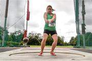 22 August 2020; Genevieve Rowland of Templemore AC, Tipperary, competing in the Women's Hammer during Day One of the Irish Life Health National Senior and U23 Athletics Championships at Morton Stadium in Santry, Dublin. Photo by Sam Barnes/Sportsfile