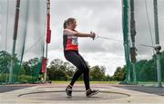 22 August 2020; Adrienne Gallen of Lifford Strabane AC, Donegal, competing in the Women's Hammer during Day One of the Irish Life Health National Senior and U23 Athletics Championships at Morton Stadium in Santry, Dublin. Photo by Sam Barnes/Sportsfile
